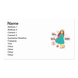 Princess Big Sister Brown Hair Double-Sided Standard Business Cards (Pack Of 100)