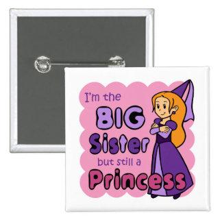 Princess Big Sister Pinback Buttons