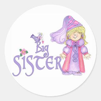 Princess Big Sister Classic Round Sticker