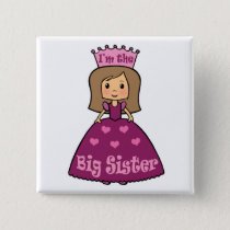 Princess Big Sister Pinback Button