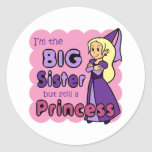 Princess Big Sister Round Sticker