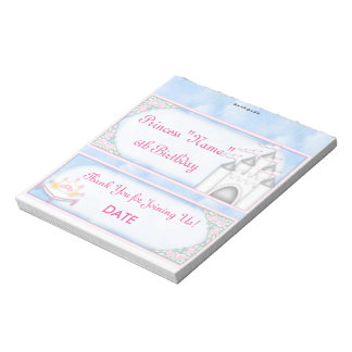 Princess Birthday Candy Bar Wrapper Party Favor Scratch Pads