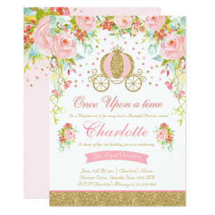 Princess birthday invitations announcements zazzle princess birthday invitation gold princess party filmwisefo