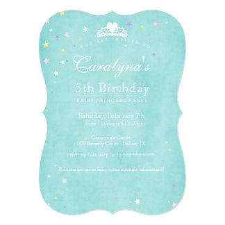 Princess Birthday Invitation Teal Fairy Dust