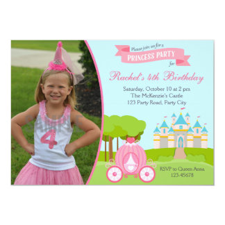 Princess Birthday Invitation with Photo (Castle)