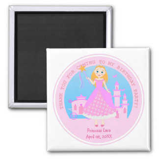 Princess Birthday Party 2 Inch Square Magnet