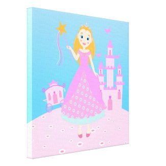 Princess Birthday Party Canvas Print