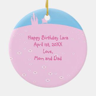 Princess Birthday Party Ceramic Ornament