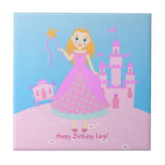 Princess Birthday Party Ceramic Tile