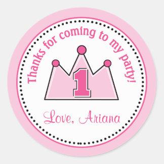 Princess Birthday Party Favor Tag Sticker