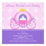 Princess Birthday Party Invitation Cute Carriage