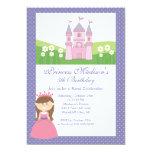 "Princess Birthday Party Invitation Pink Purple 5"" X 7"" Invitation Card"