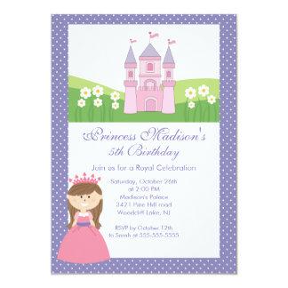 Princess Birthday Party Invitation Pink Purple