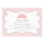 Princess Birthday Party Pink Crown Invitation