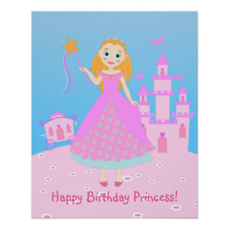 Princess Birthday Party Poster