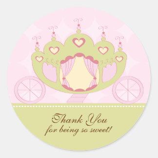Princess Birthday Sticker Thank You