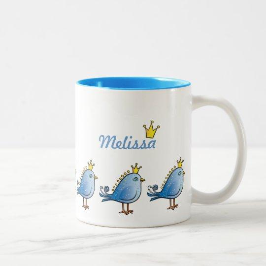 Princess Blue Birds Mug