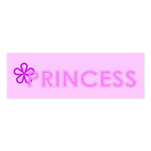 Princess Bookmark Double-Sided Mini Business Cards (Pack Of 20)