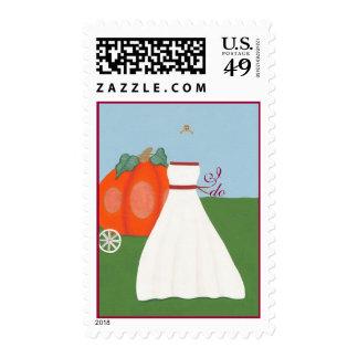 Princess Bridal Shower & Wedding Invitation Stamps