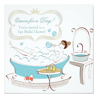 Princess Bride Spa Bridal Shower 5.25x5.25 Square Paper Invitation Card