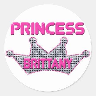 Princess Brittany Classic Round Sticker