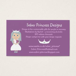 Princess business cards. Dog & cat design on back Business Card