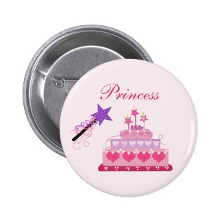 Princess Cake and Wand 2 Inch Round Button