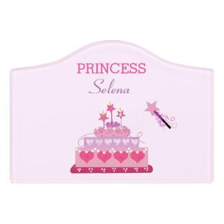 Princess Cake and Wand Door Sign
