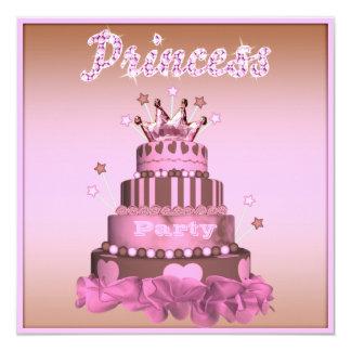 Princess Cake & Cupcakes (back) Birthday Party Card