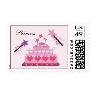Princess Cake with Magic Wands Postage Stamp