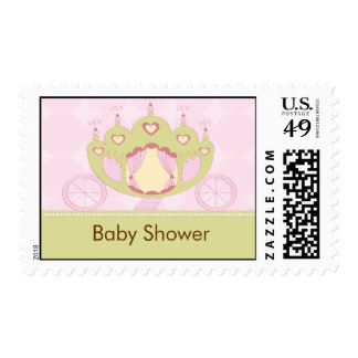 Princess Carriage Baby Shower Postage