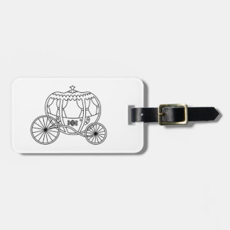 Princess Carriage, Black Coach. Bag Tag