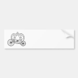 Princess Carriage, Black Coach. Bumper Sticker