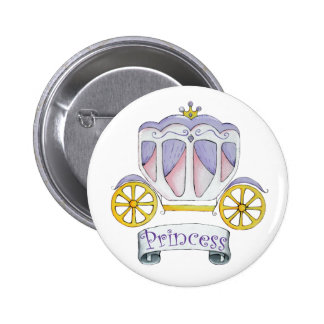 Princess Carriage 2 Inch Round Button