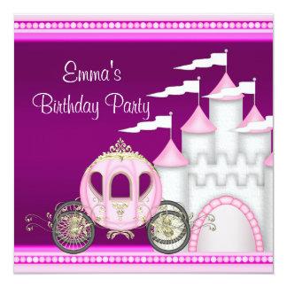 Princess Carriage Castle Girls Princess Birthday Card