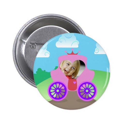 Princess Carriage Custom Photo 2 Inch Round Button