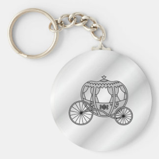 Princess Carriage in Gray Keychain