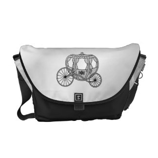 Princess Carriage in Gray Courier Bag