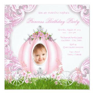 Princess Carriage Photo Birthday Party Invitation