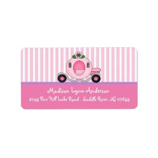 Princess Carriage Return Address Labels.