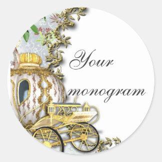 Princess Carriage Wedding Envelope Seals Labels
