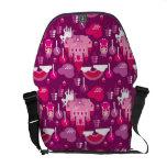 princess castle and unicorn rainbow courier bag