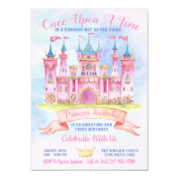Princess Castle Any Number Birthday Party Invitations