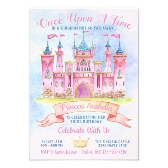Princess Castle Any Number Birthday Party Invitation