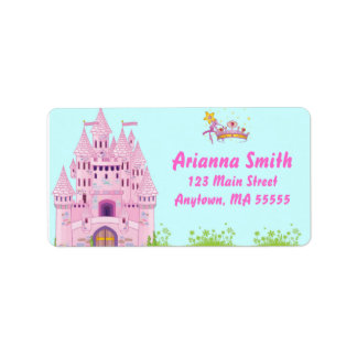 Princess Castle Birthday Party Address Labels