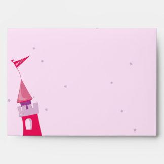 PRINCESS CASTLE Birthday Party Invitation Envelope