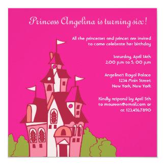 Princess castle birthday party invitations-2 card