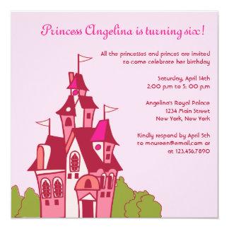 Princess castle birthday party invitations-3 card