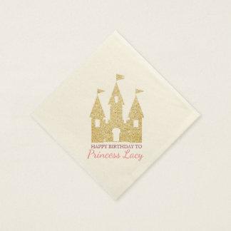 Princess Castle Birthday Party Paper Napkin