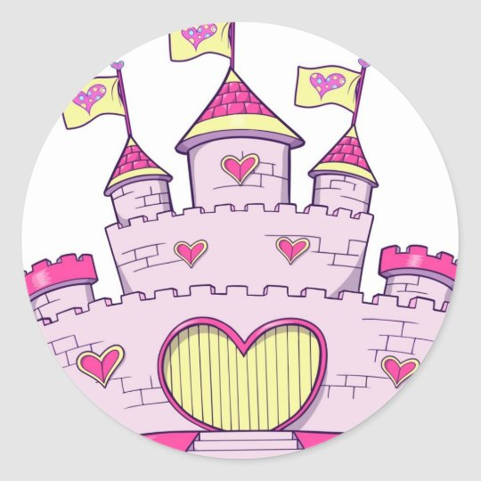 Princess castle classic round sticker